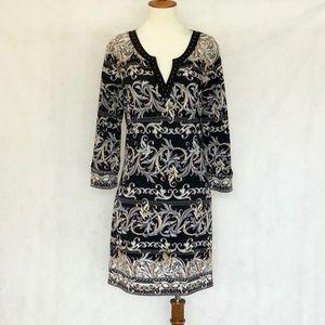 White House Black Market Pattern Shift Dress